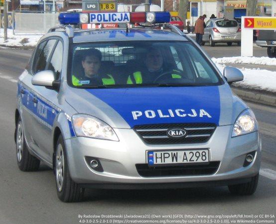 Policja Dąbrowa Górnicza: Miejsce policyjnych kontroli autokarów w Dąbrowie Górniczej